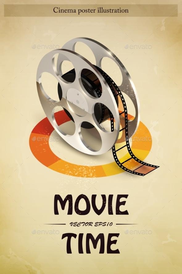GraphicRiver Cinema Poster Illustration 10020212