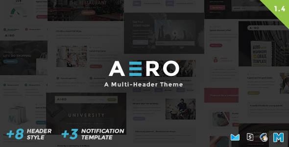 Aero - Responsive Email Template - Newsletters Email Templates