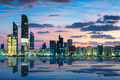 View of Abu Dhabi Skyline at sunset - PhotoDune Item for Sale