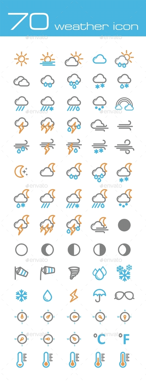 GraphicRiver Weather Icons 10020273