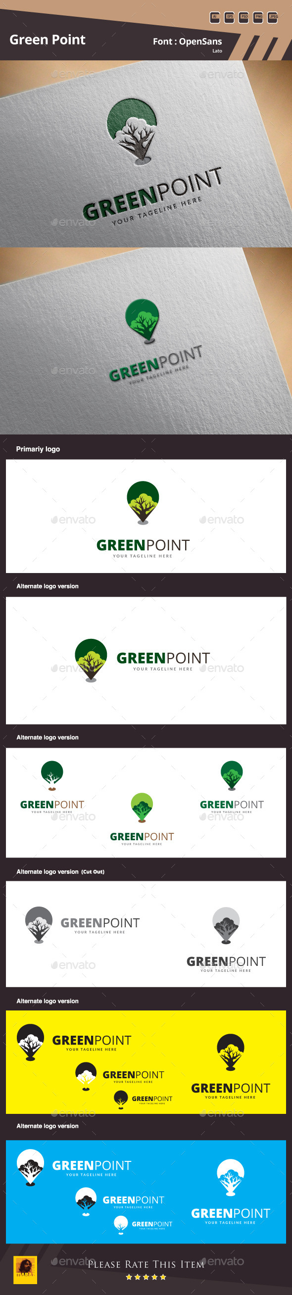 Green Point Logo Template