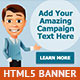 Cool Cartoon HTML5 Animated Banner