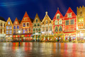 Christmas Old Market square in the center of Bruges, Belgium - PhotoDune Item for Sale