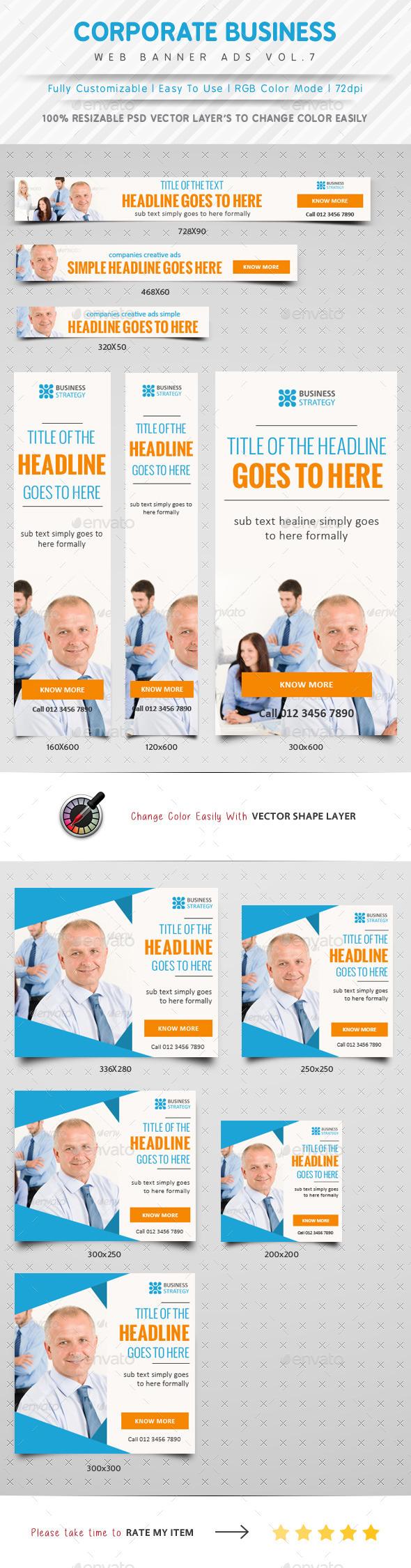 GraphicRiver Corporate Web Banner Ads Vol.7 10020339