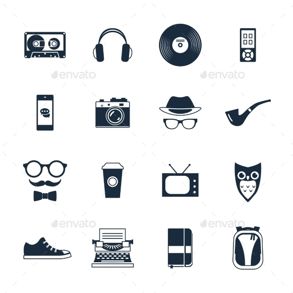 GraphicRiver Hipster Icons Set 10020407