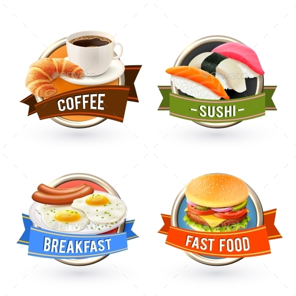 GraphicRiver Breakfast Labels Set 10020412