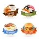 Breakfast Labels Set - GraphicRiver Item for Sale