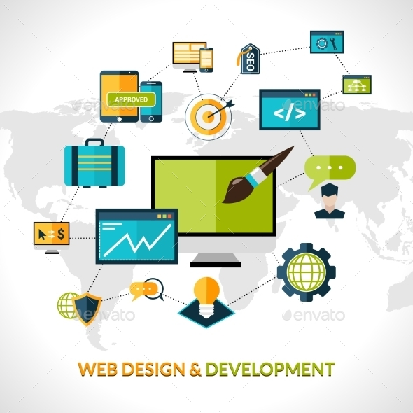 GraphicRiver Web Development Composition 10020424