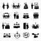 Meeting Icons Set - GraphicRiver Item for Sale