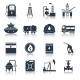 Oil Industry Icons Black - GraphicRiver Item for Sale
