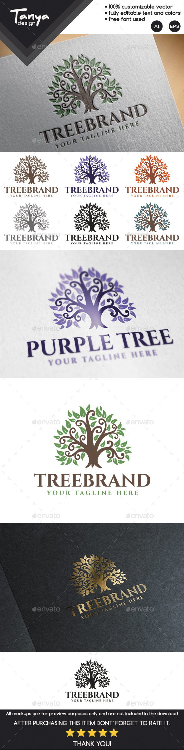 GraphicRiver Tree Brand Logo Template 10020521