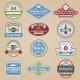 Retro Emblems Colored - GraphicRiver Item for Sale