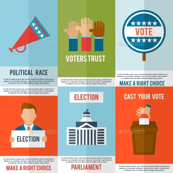 GraphicRiver Election Poster Set 10020547