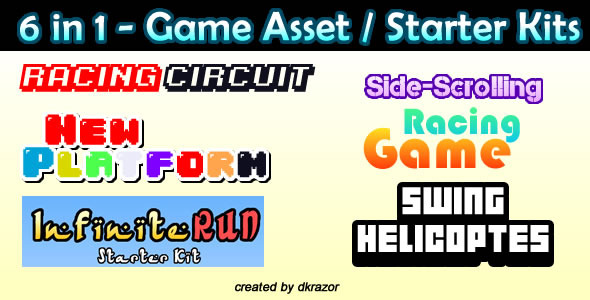 CodeCanyon 5 Full Games Game Asset Construct 2 10020552