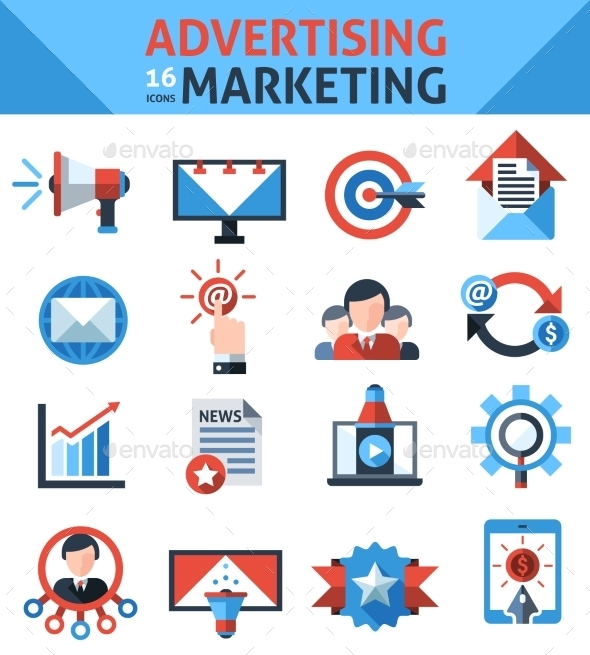 GraphicRiver Advertising Marketing Icons 10020596