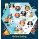Online Dating Concept - GraphicRiver Item for Sale