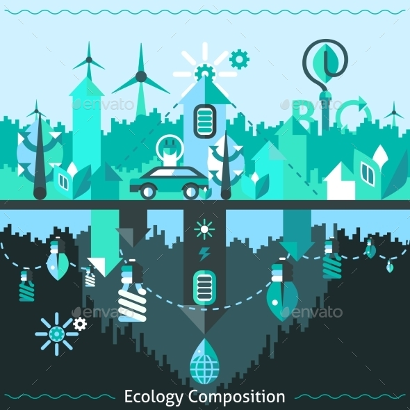 GraphicRiver Ecology And Recycling Composition 10020649