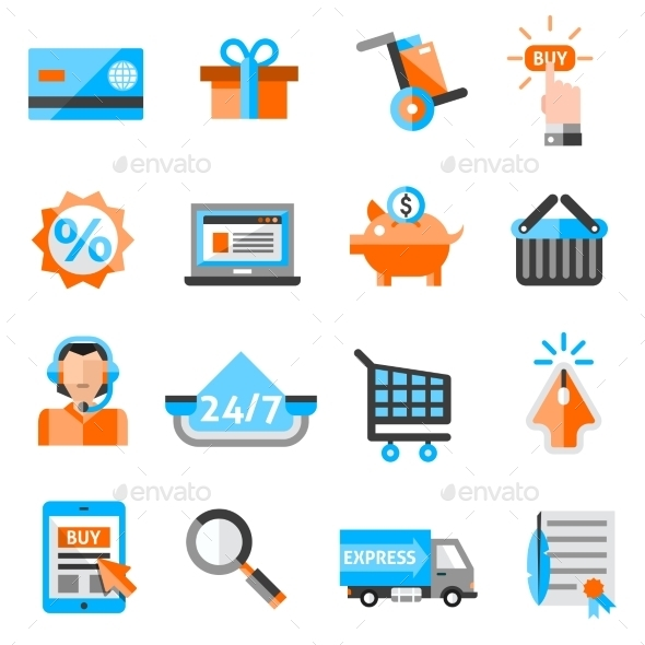 GraphicRiver E-commerce Icons Set 10020660