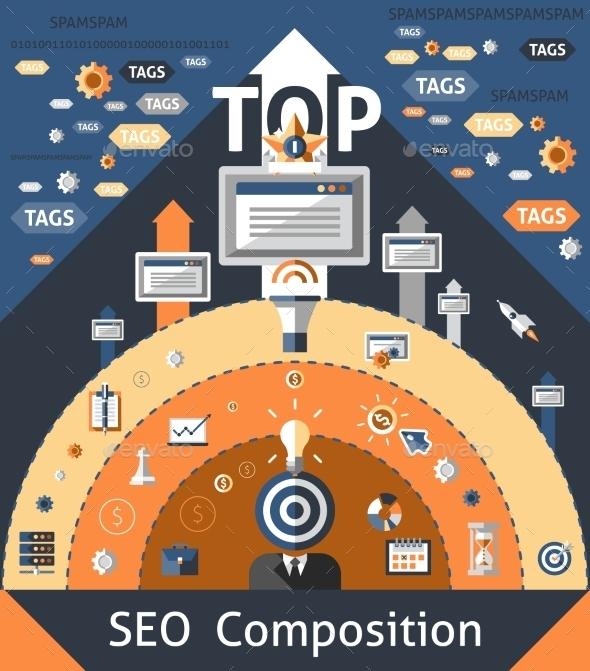 GraphicRiver Seo Composition Illustration 10020663