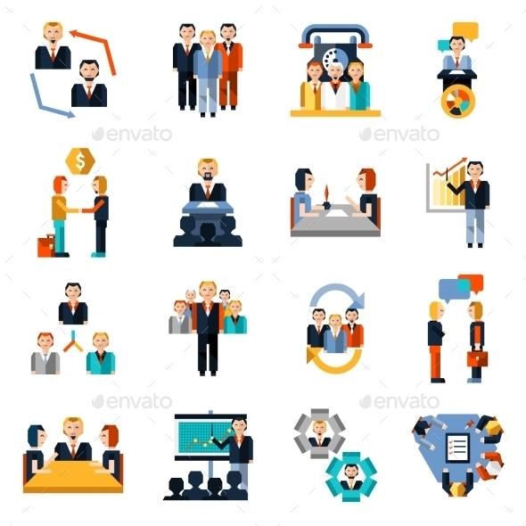 GraphicRiver Meeting Icons Set 10020666