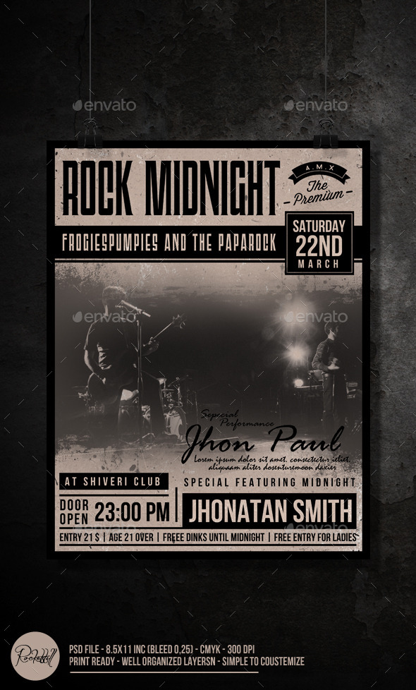 GraphicRiver Rock Midnight Flyer 10020680