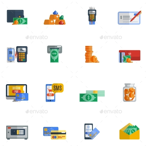 GraphicRiver Payment Icon Flat 10020735