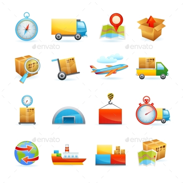 GraphicRiver Logistic Icons Set 10020737