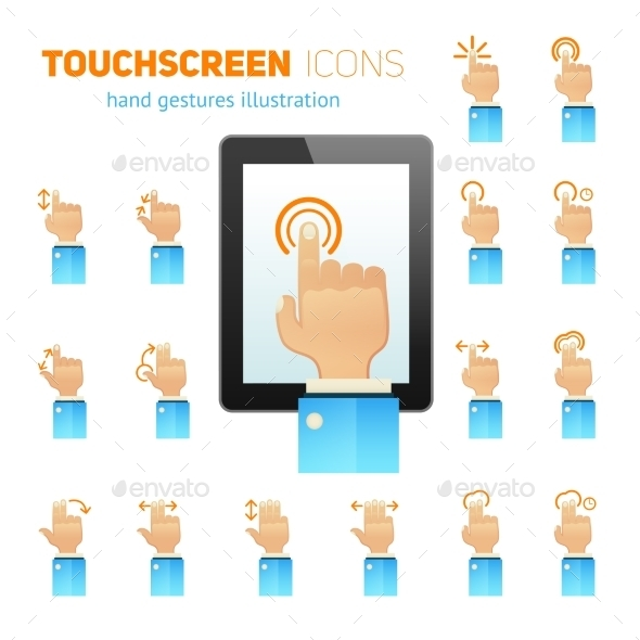 GraphicRiver Touch Screen Gestures Icons 10020739
