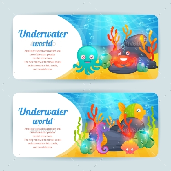 GraphicRiver Underwater Sea Animals 10020743