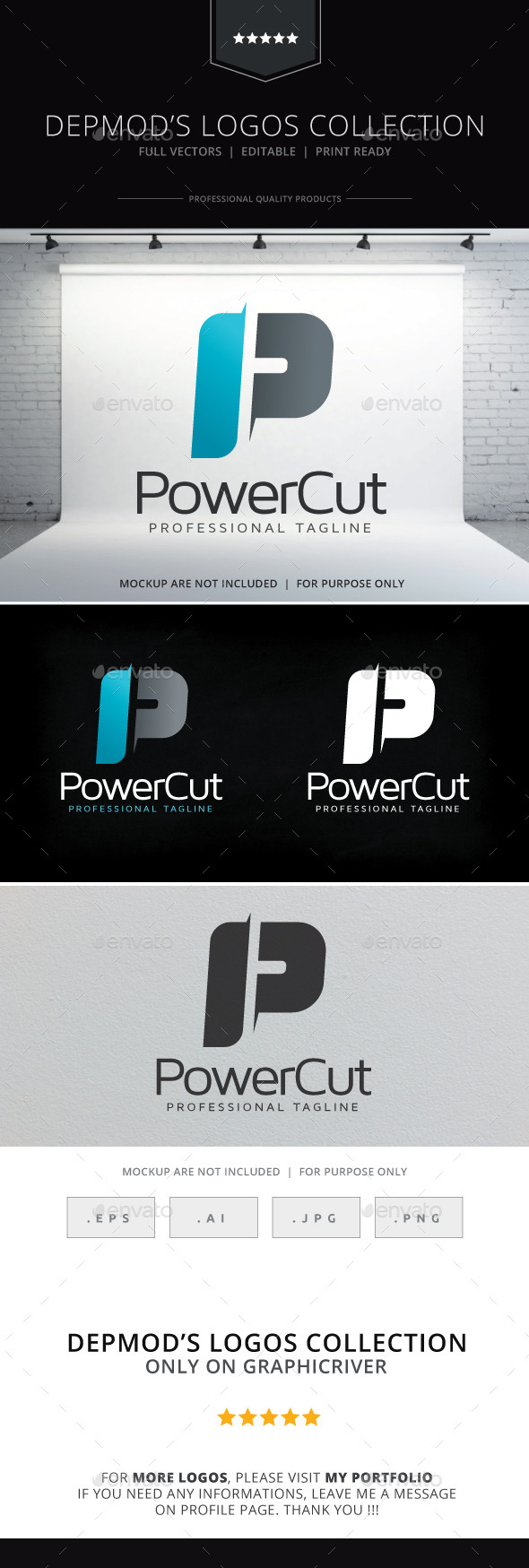 GraphicRiver Power Cut Logo 10020744