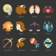 Zodiac Icons Set - GraphicRiver Item for Sale