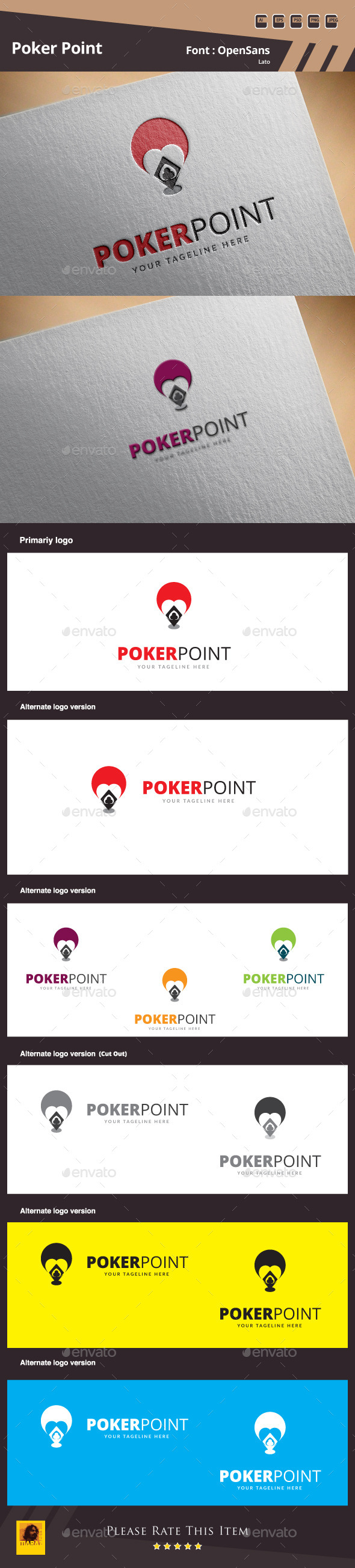 GraphicRiver Poker Point Logo Template 10020761