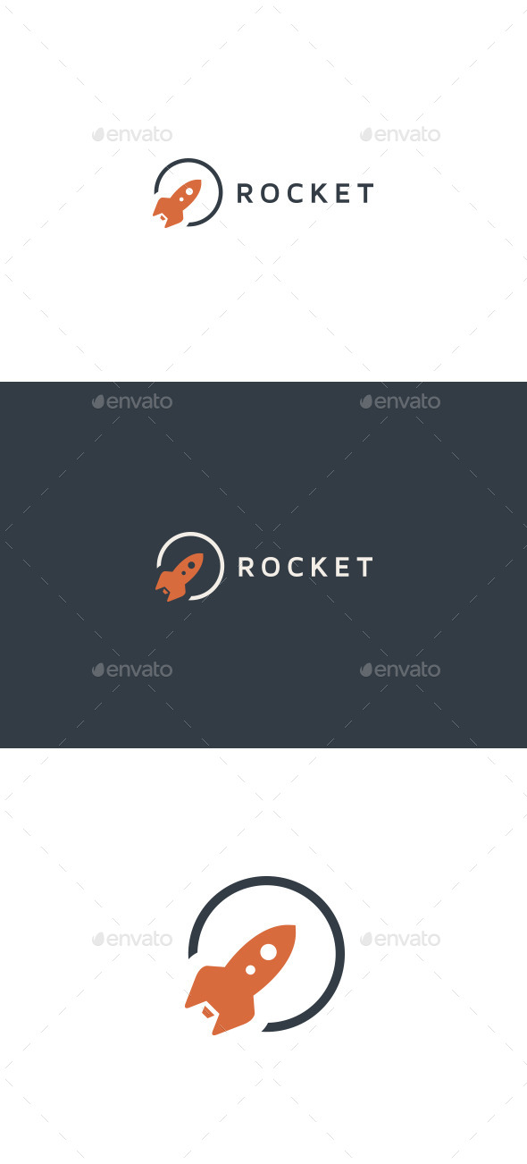 GraphicRiver Rocket Logo Template 10020776