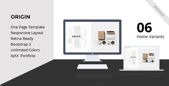 ThemeForest Origin-Creative One page HTML5 Template 10021525