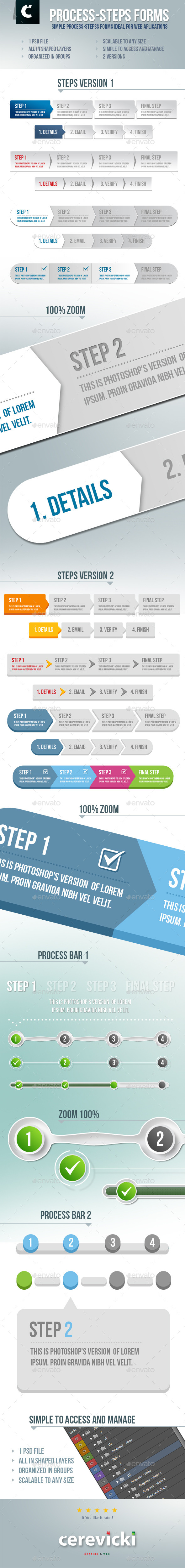 GraphicRiver Process-Steps Forms 10021556