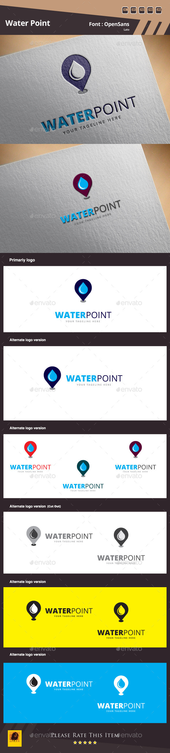 GraphicRiver Water Point Logo Template 10021592