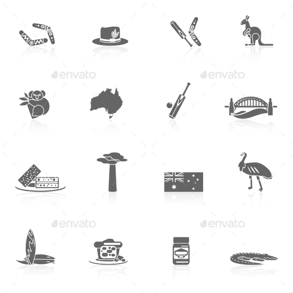 GraphicRiver Australia Icons Set 10021640