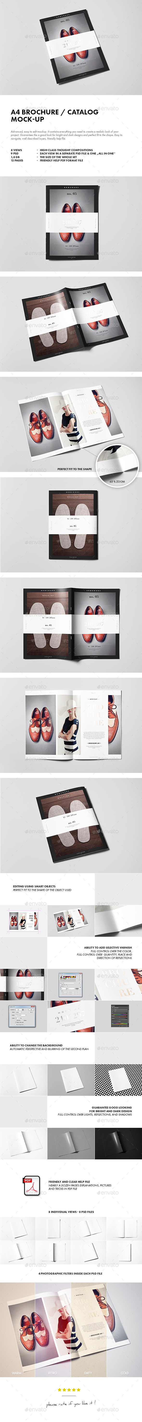GraphicRiver A4 Brochure Catalog Booklet Mock-up 10021649