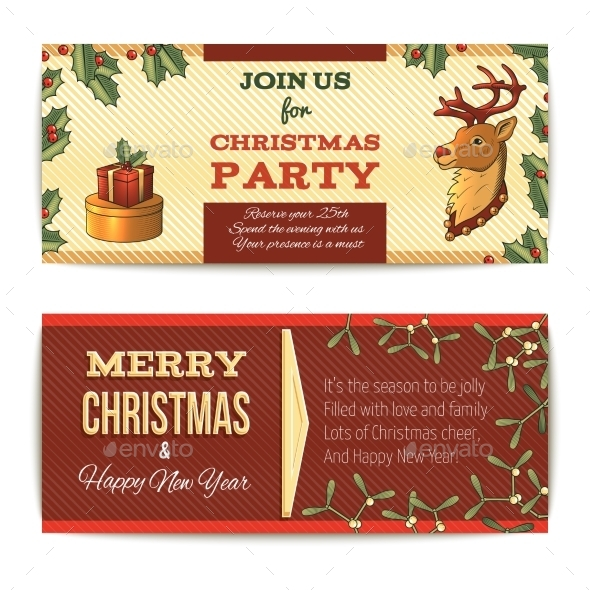 GraphicRiver Christmas Banners Horizontal 10021678