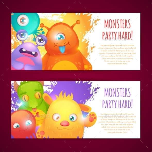 GraphicRiver Monsters Horizontal Banners 10021768