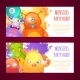 Monsters Horizontal Banners - GraphicRiver Item for Sale