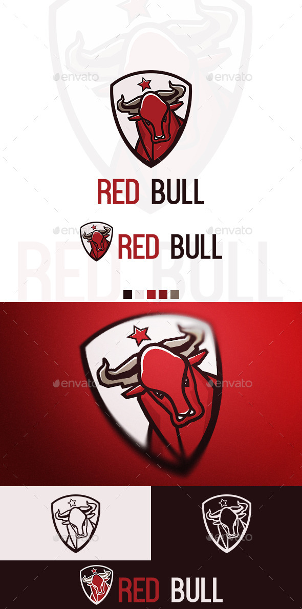 GraphicRiver Red Bull Logo 10021776