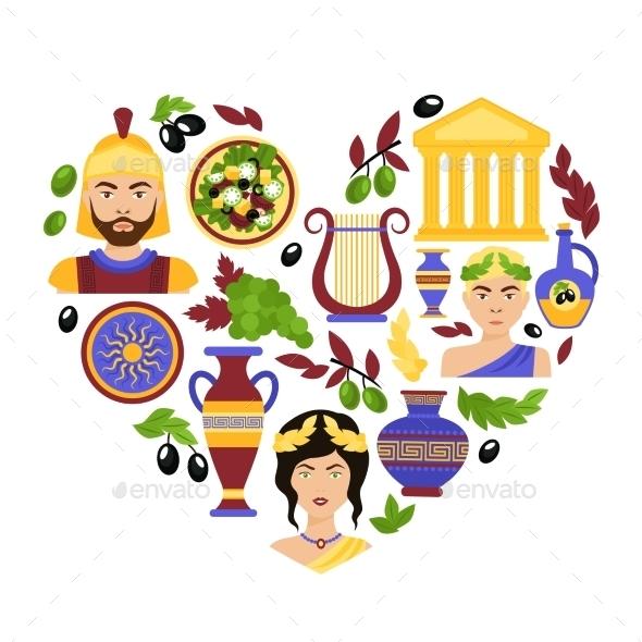 GraphicRiver Greece Symbols Heart 10021785