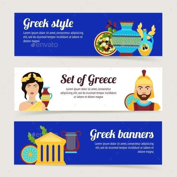GraphicRiver Greece Banner Set 10021793