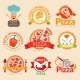 Pizzeria Labels Set - GraphicRiver Item for Sale