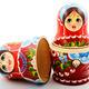 two traditional Russian matryoshka dolls - PhotoDune Item for Sale