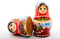 two traditional Russian matryoshka dolls - PhotoDune Item for Sale
