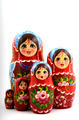 five traditional Russian matryoshka dolls - PhotoDune Item for Sale