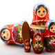 five traditional Russian matryoshka dolls - PhotoDune Item for Sale