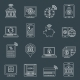 Mobile Banking Icons Outline - GraphicRiver Item for Sale